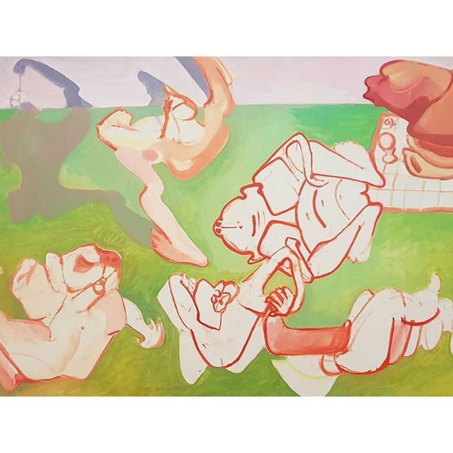 All about body awareness in the brilliant Lassnig show 🖤 @stedelijkmuseum. . . . . . . .  #marialassnig #femalepainter #femaleartist #bodyawareness #fallinginlovealloveragain #mindandbody #portraiture #femalebody #stedelijk #austrainartist #inspiringartists #amsterdam #artdestinations  #figurativepainting #artmindandbody #love