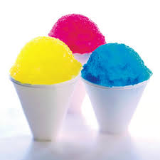 Snow cone set comes with the cones and flavors. (Ice is not included) It comes in a set of 25 servings for each additional order.