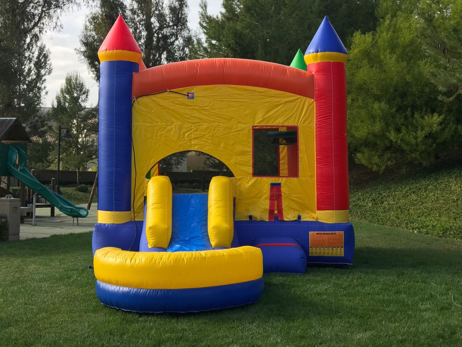 Castle Bounce House with Slide Wet.Dry Combo pic 2.jpg