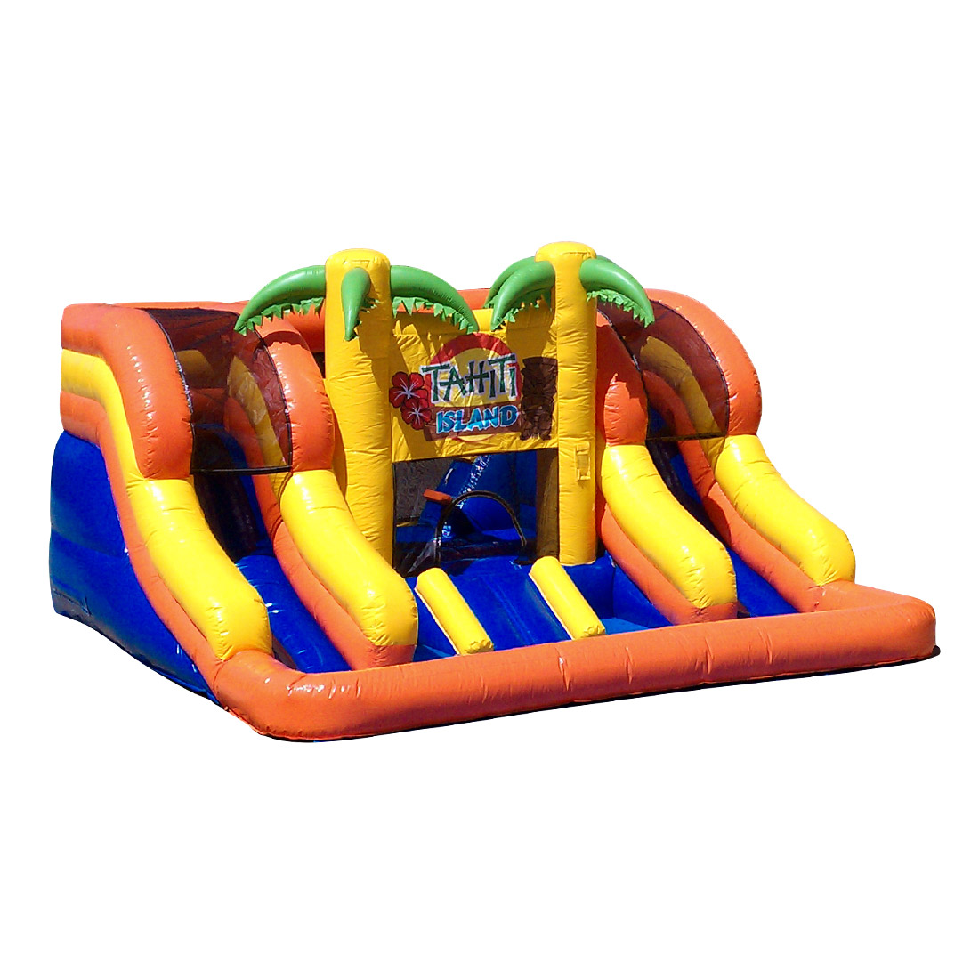 Tahiti Island Bounce House - Great unit for ages 2 years old to 10 years old. This unit can be used with or without water.