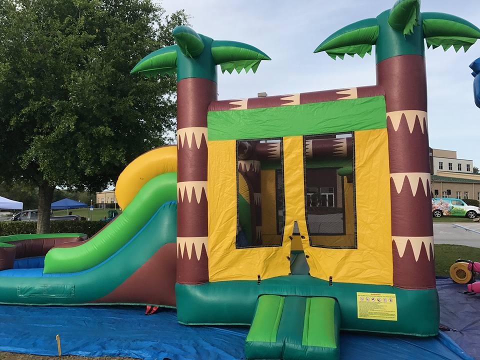 Tropical Bounce House with one lane slide pic 3.jpg