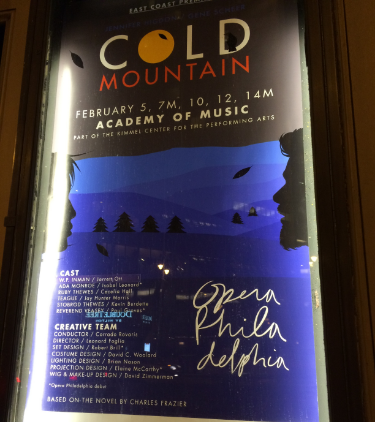 Poster Outside the Academy of Music, 2-10-2016