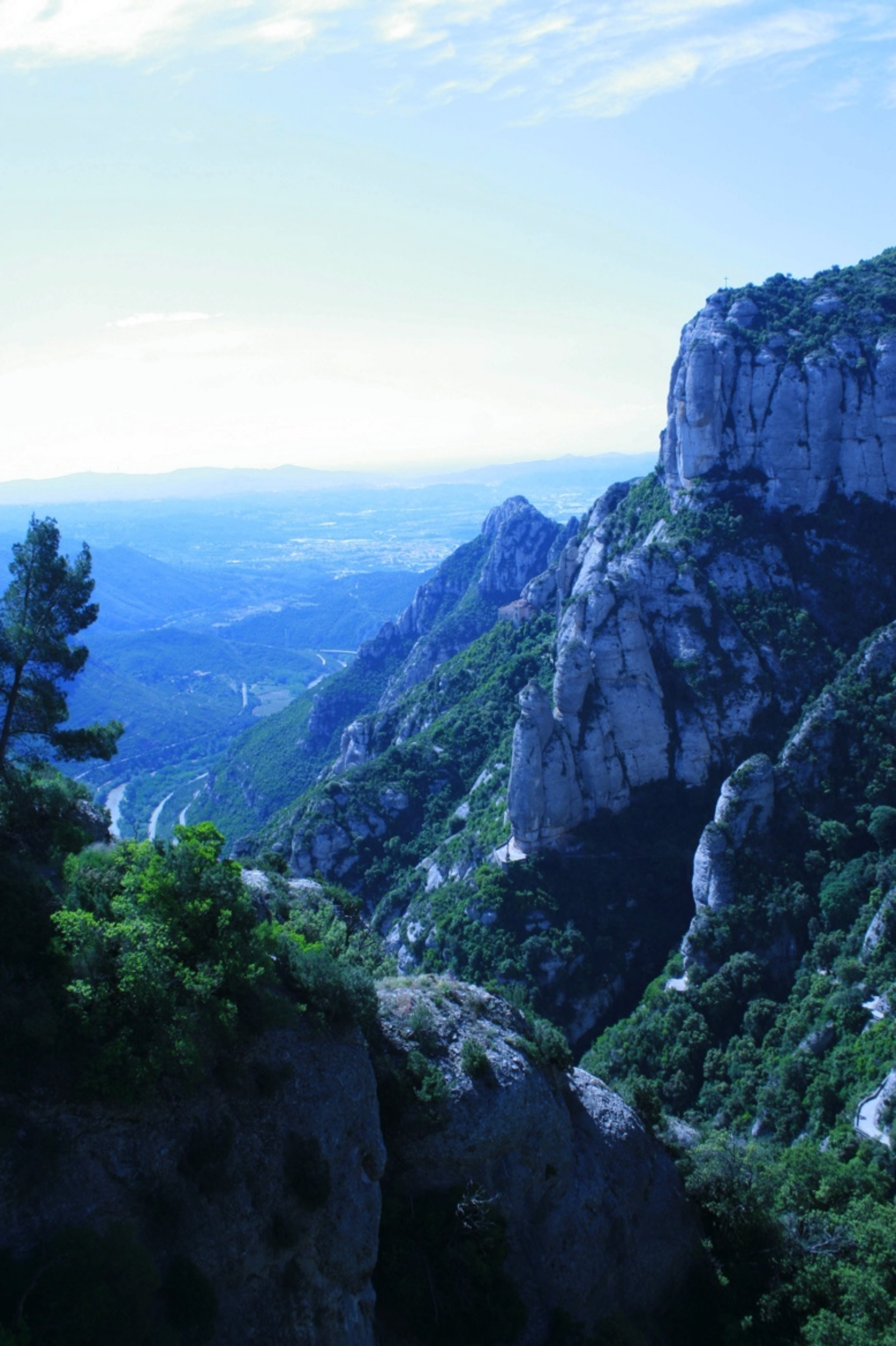 View from the visitor's center on Montserrat looking towards Barcelona.  Author's photo.