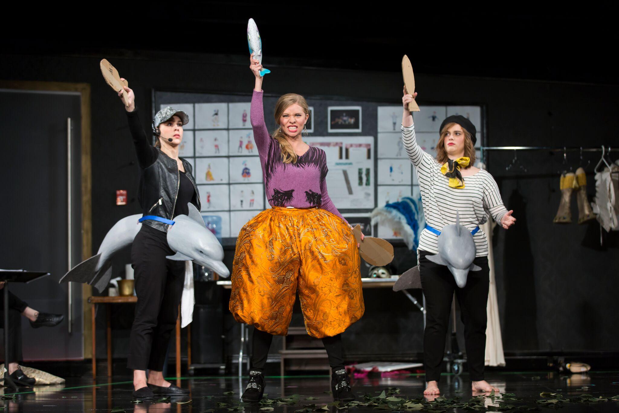 Anne-Marie Stanley, Amy Owens, and Rebecca Claborn in L'Opera Seria.  Photo by Scott Suchman; courtesy of Wolf Trap Opera, 2016.