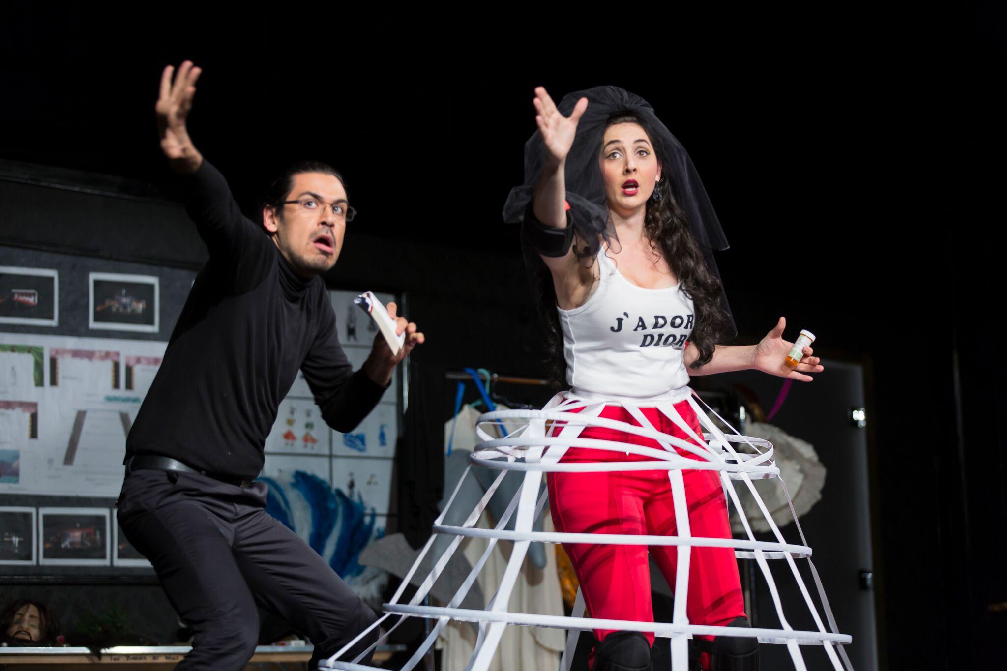 Richard Ollarsaba and Clarissa Lyons in L'Opera Seria.  Photo by Scott Suchman; courtesy of Wolf Trap Opera, 2016.