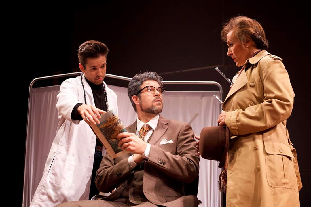 Ian McEuen as Dr. S, Jeffrey Beruan as Dr. P, and Emily Pulley as Mrs. P. Photo by Ryan Maxwell; courtesy of Urban Arias, 2016.