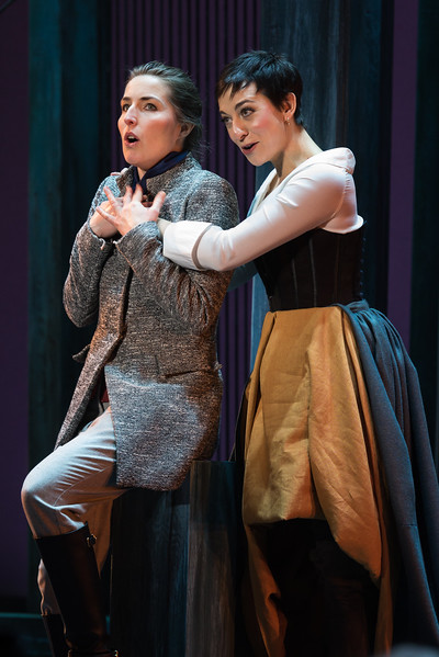 Fidelio, played by Kimy McLaren, and Marceline, played by Pascale Beaudin. Photo by Louis Forget and courtesy of Opera Lafayette.