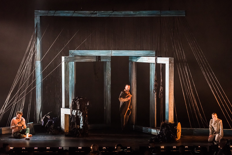 Floristan, played by Jean-Michel Richer; Roc, played by Tomislav Lavoie; and Fidelio, played by Kimy Mclaren. Photo by Louis Forget and courtesy of Opera Lafayette.