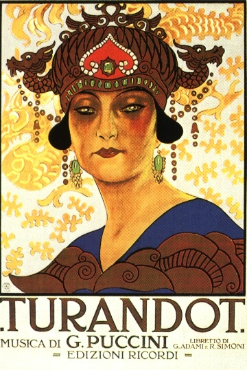 Original 1926 poster for  Turandot ; public domain.