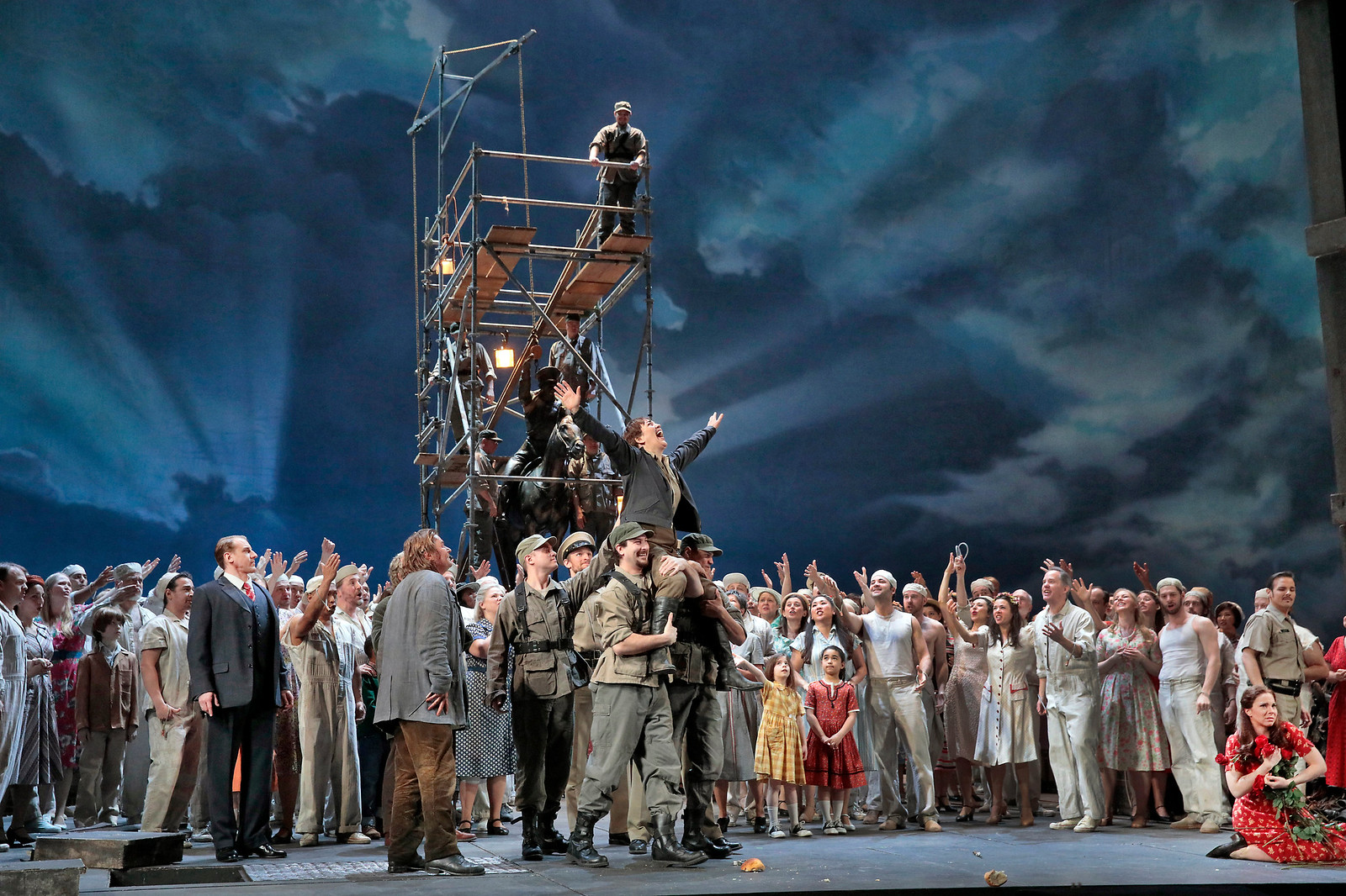 Final scene where Leonore is praised by all. Photo by Ken Howard; courtesy of the Metropolitan Opera.
