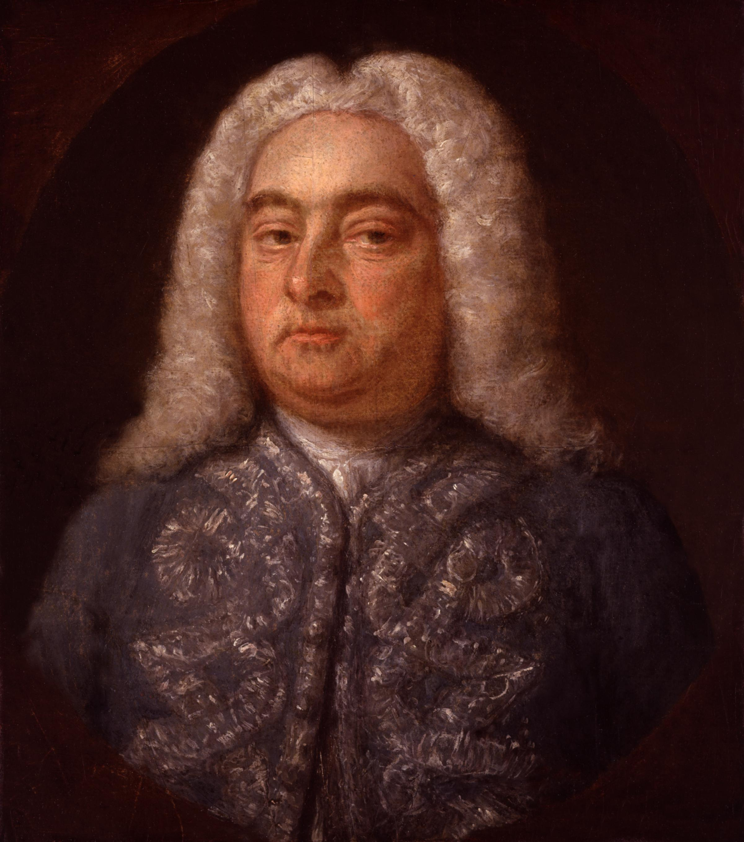Painting by Francis Kyte of George Frideric Handel. Photo is in public domain in Wikipedia Commons.