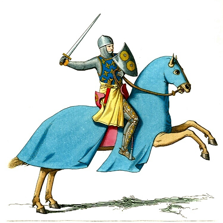 Public domain knight illustration by Paul Mercuri: http://www.oldbookart.com/2012/01/15/middle-ages-medieval-dress/.