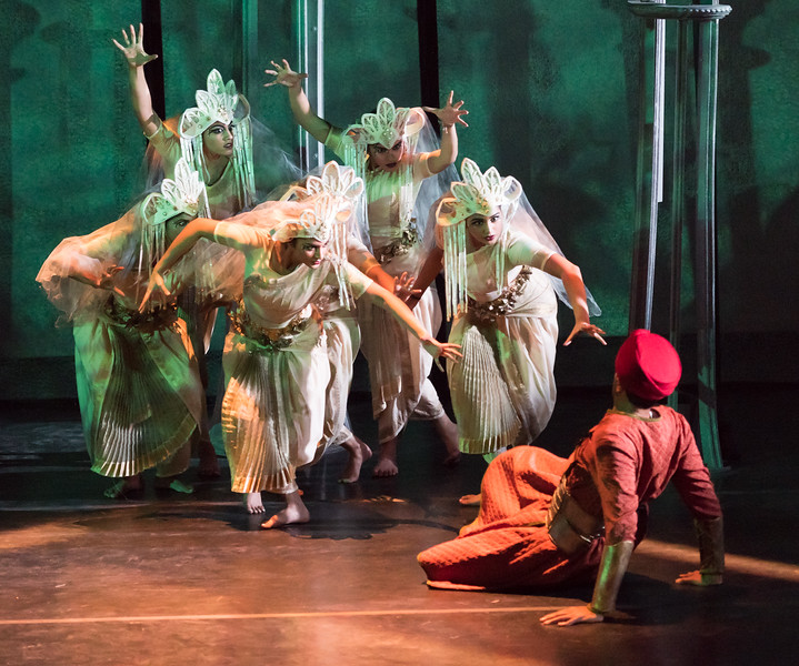 Members of the Kalanidhi Dance Company in  La Foret enchantee  ( The Enchanted Forest ). Rehearsal photo by Louis Forget; courtesy of Opera Lafayette.