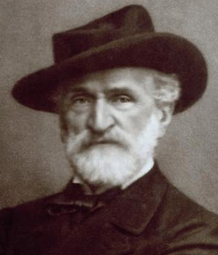 Portrait of Giuseppe Verdi by Giacomo Brogi;  Wikipedia, public domain .