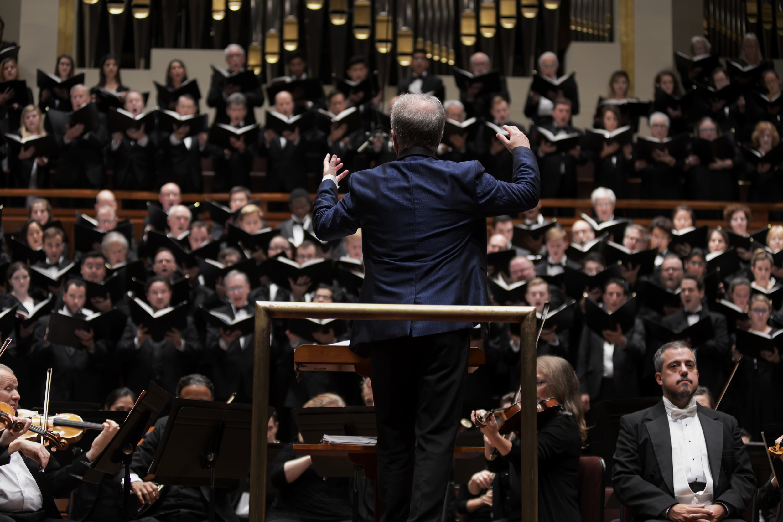 The Washington Chorus; photo by Bern Bel and courtesy of the National Symphony Orchestra.