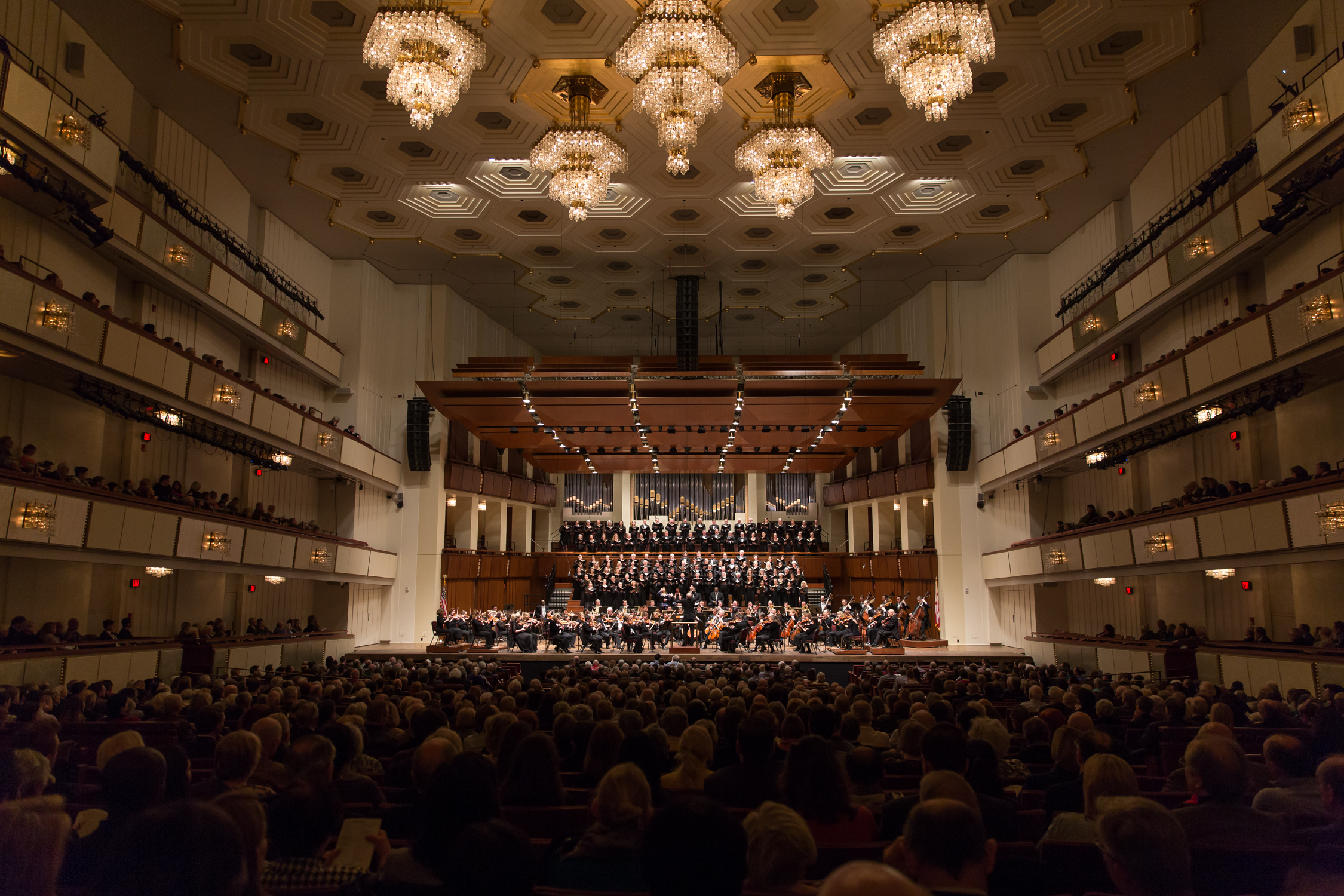 The Kennedy Center Concert Hall filled for Verdi's  Requiem . Photo by Scott Suchman and courtesy of the National Symphony Orchestra.