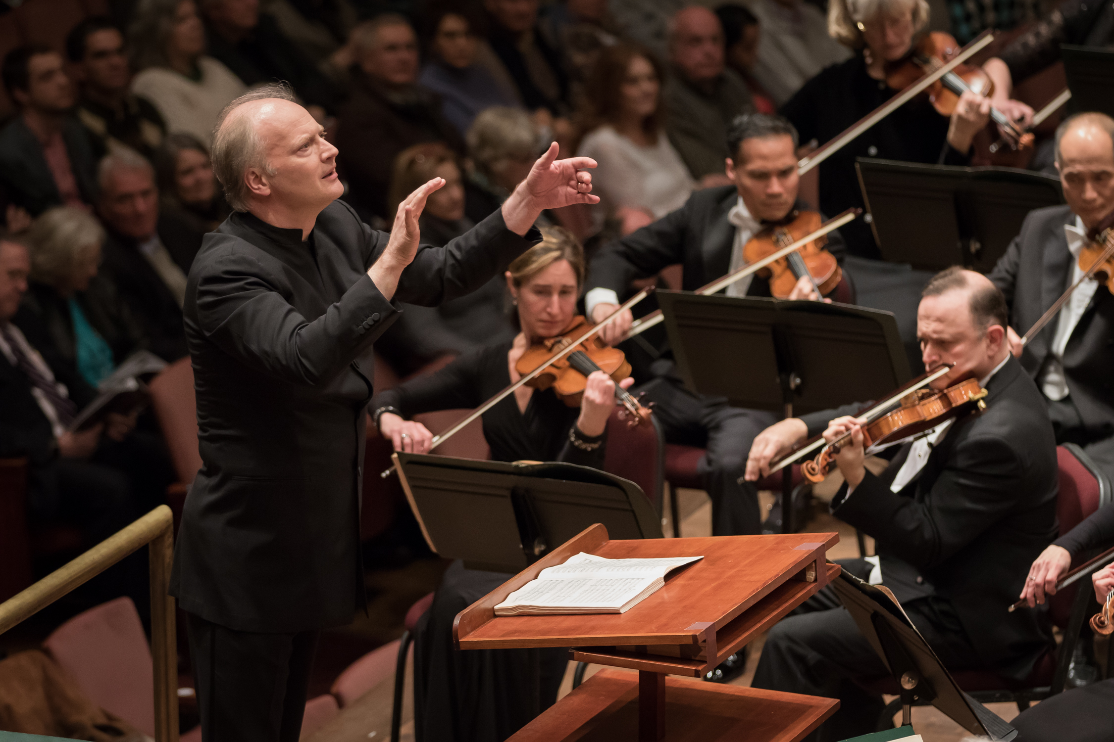 NSO's Music Director and Conductor Gianandrea Noseda leading the performance. Photo by Scott Suchman and courtesy of the National Symphony Orchestra.