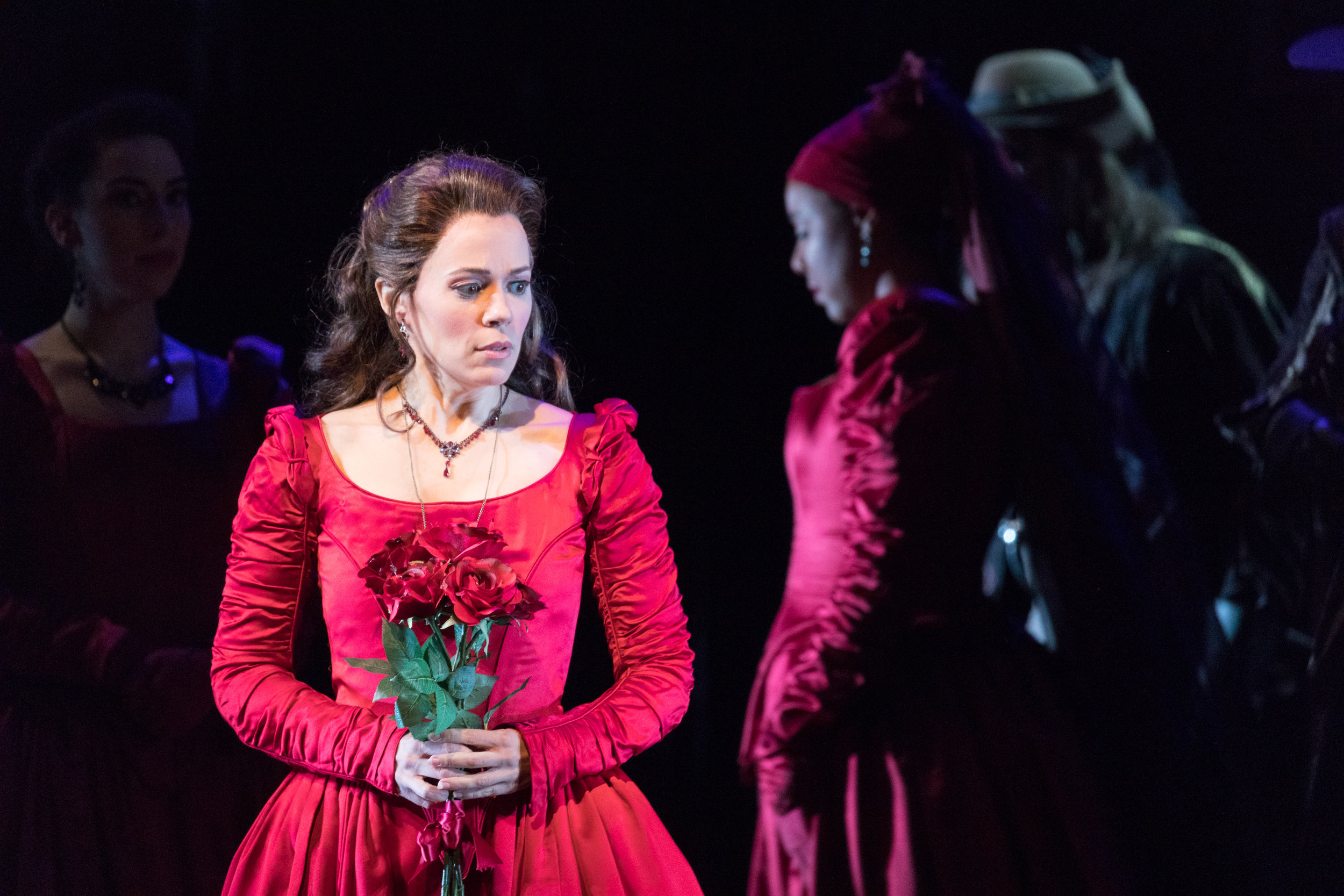 Rachele Gilmore as Lucia. Photo by Ben Schill Photography; courtesy of Virginia Opera.