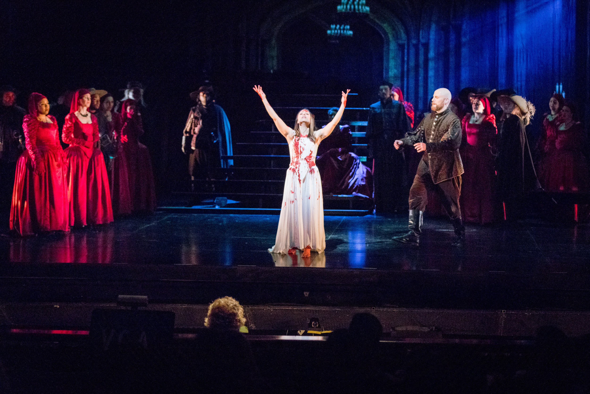 Rachele Gilmore as Lucia in the famous mad scene. Photo by Ben Schill Photography; courtesy of Virginia Opera.