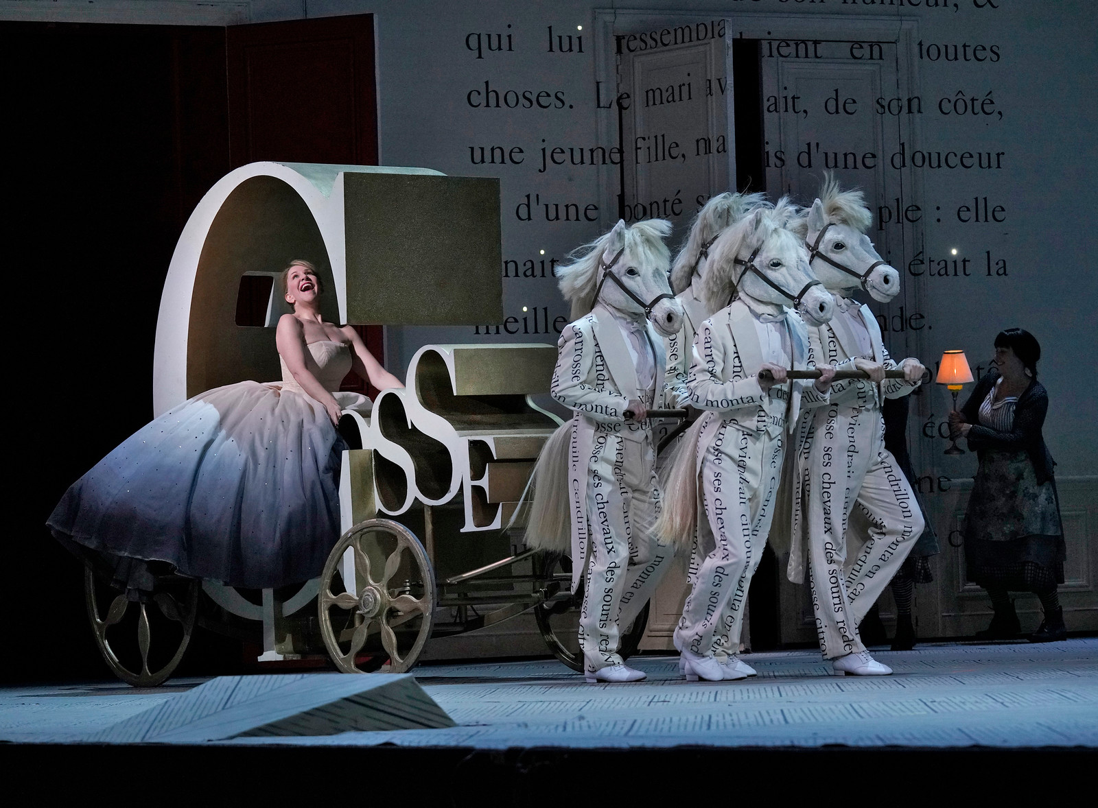 Cendrillon travels to the ball. Photo by Ken Howard; courtesy of the Metropolitan Opera.