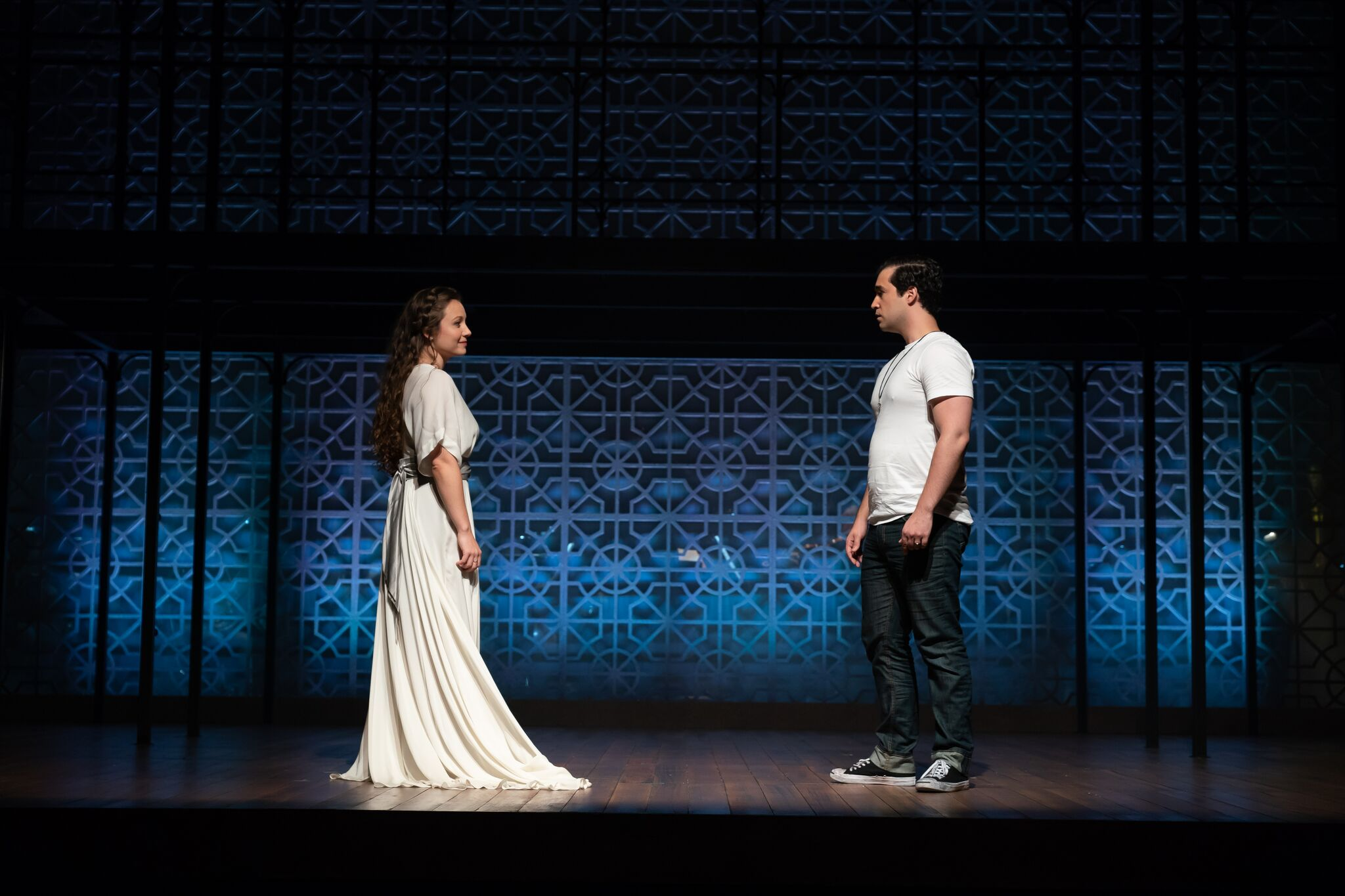 Madison Leonard as Juliette and Alexander McKissick as Romeo. Photo by Scott Suchman; courtesy of Wolf Trap Opera.