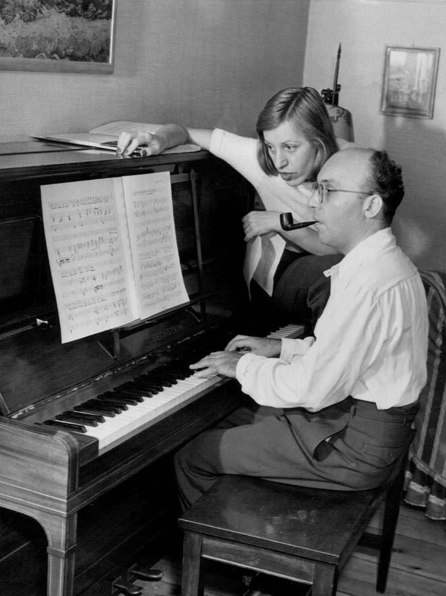 Lotte Lenya and Kurt Weill, 1942; photo from  Wikipedia .