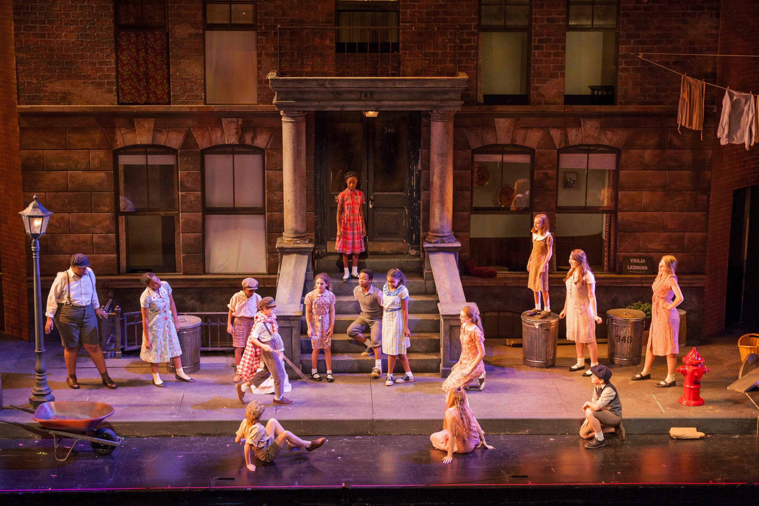 Children playing a game in Kurt Weill's  Street Scene . Photo by Ben Schill Photography; courtesy of the Virginia Opera.
