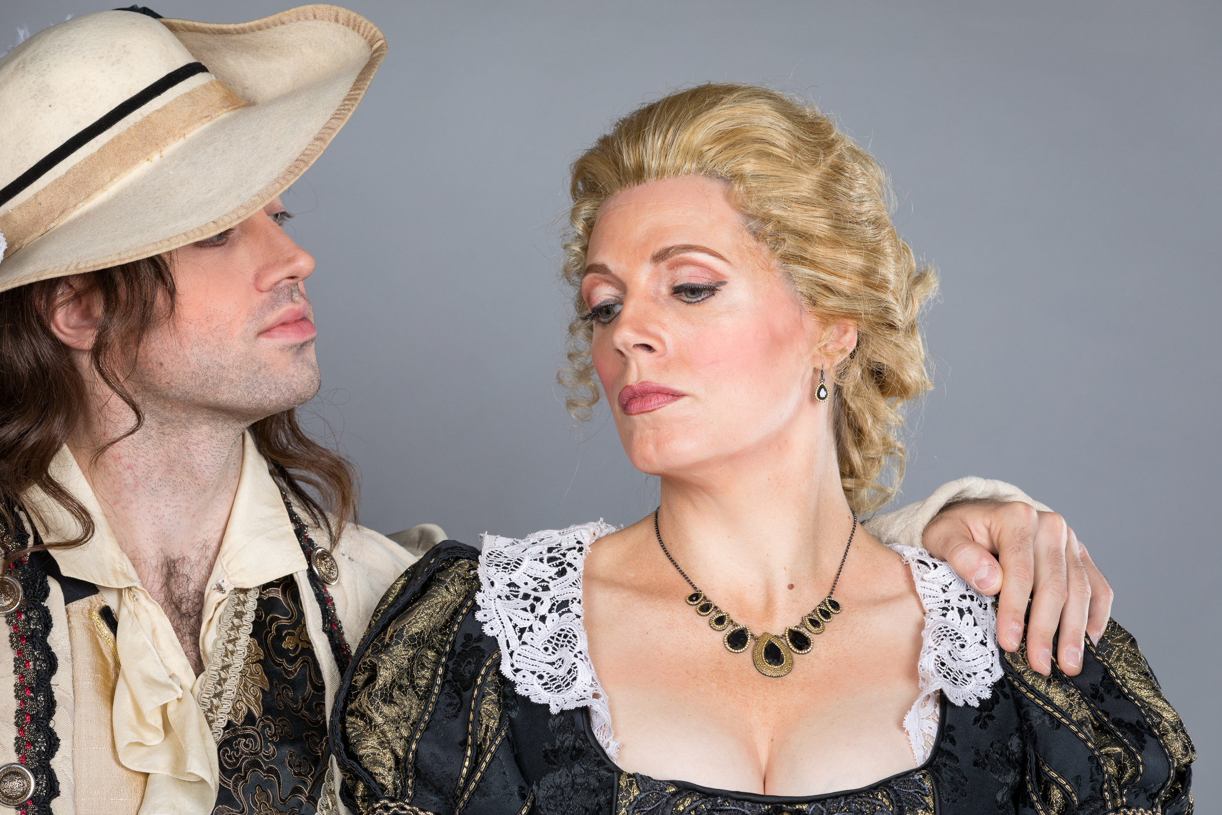 Pre-production cast photo: Tobias Greenhalgh as Don Giovanni and Rachelle Durkin as Donna Anna. Photo by Ben Schill Photography; courtesy of Virginia Opera.cast