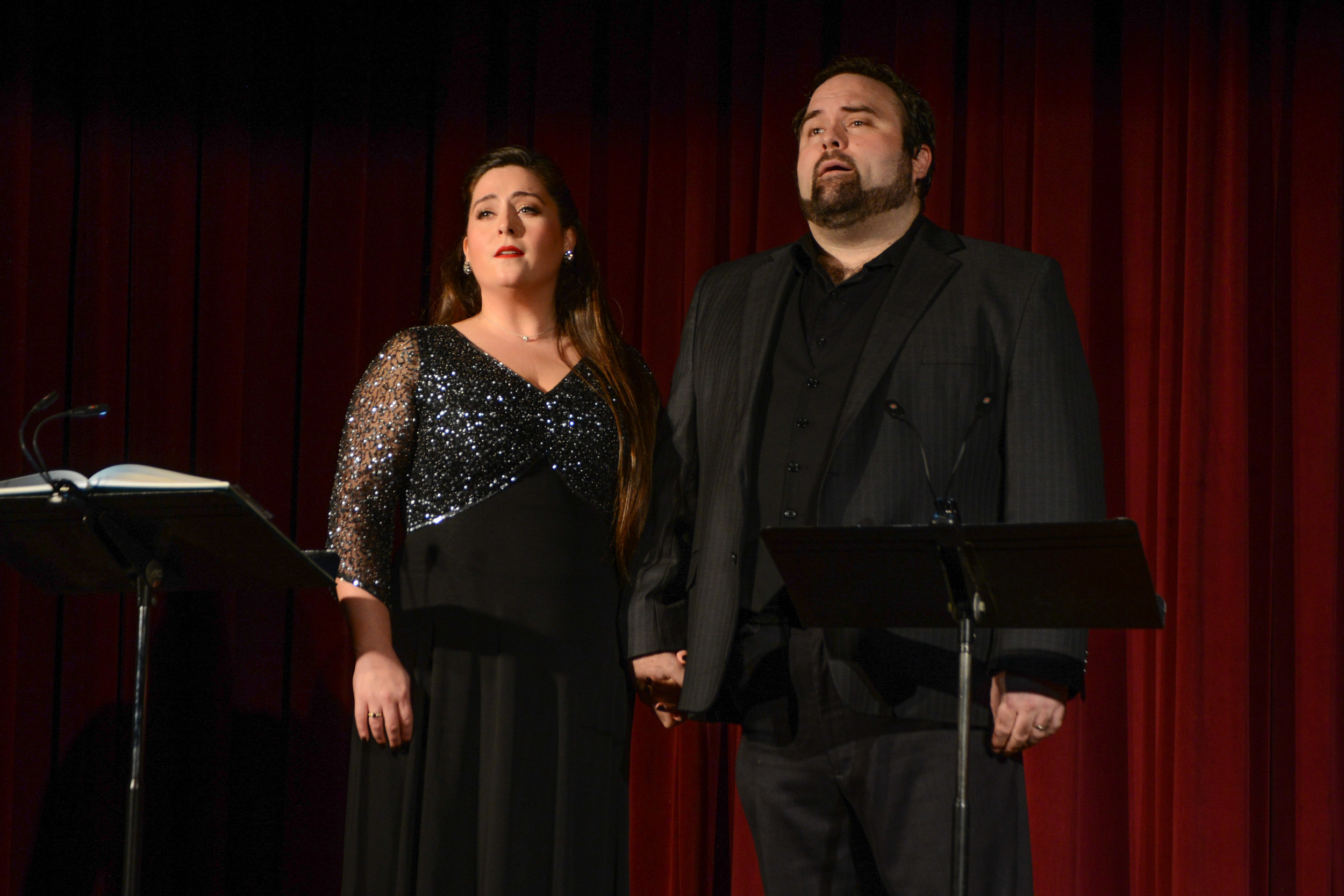 Victoria Cannizzo as Suzel and William Davenport as Fritz. Photo by Britt Olsen-Ecker; courtesy of Baltimore Concert Opera.