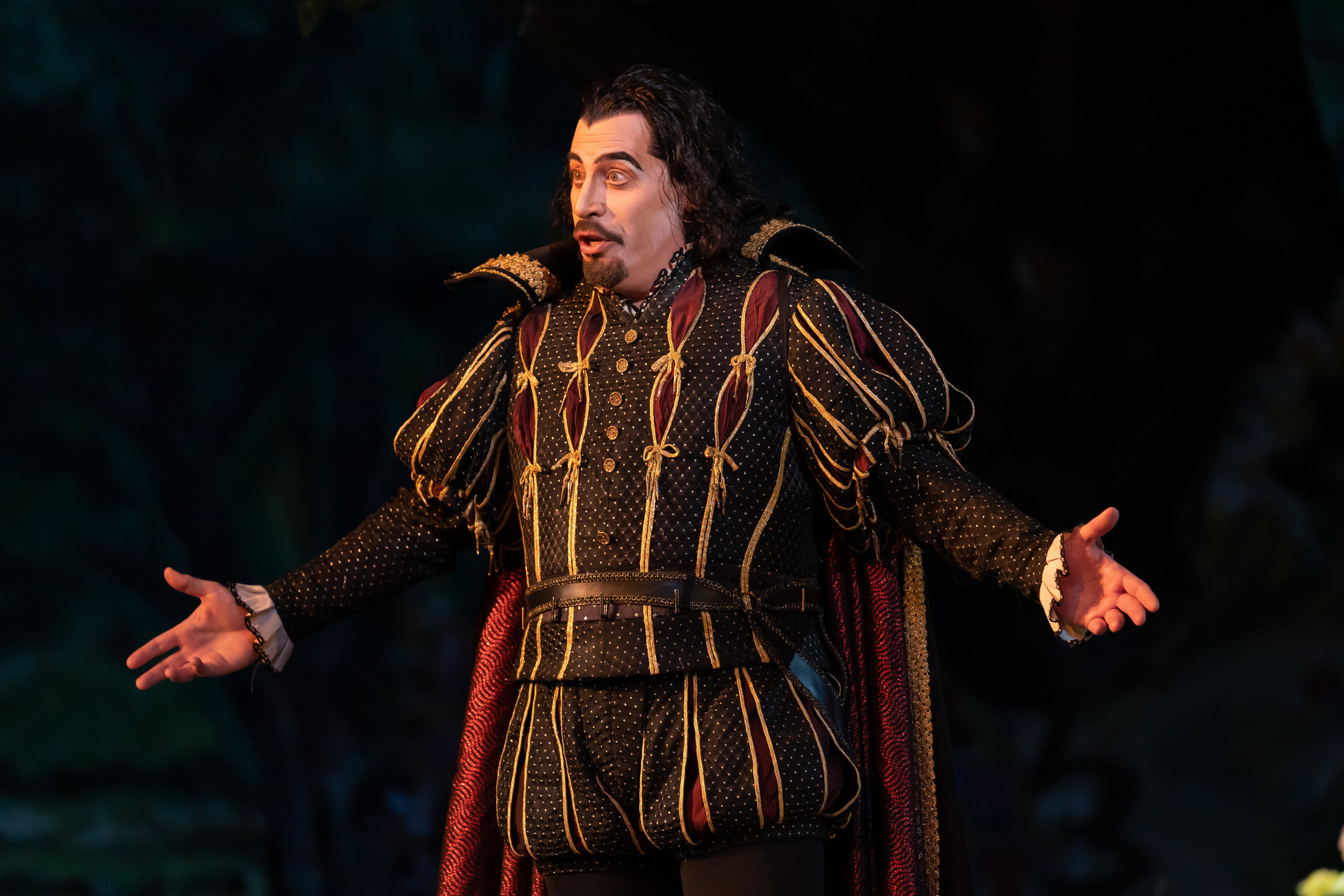 Bass Raymond Aceto as Satan - you're gonna love him…until the charm wears off. Photo by Scott Suchman; courtesy of Washington National Opera.