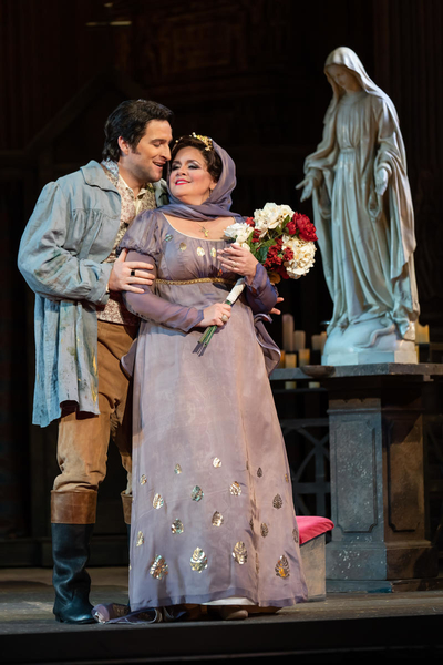 Riccardo Massi and Keri Alkema as Cavaradossi and Tosca. Let's remember them as lovers. Photo by Scott Suchman; courtesy of Washington National Opera.