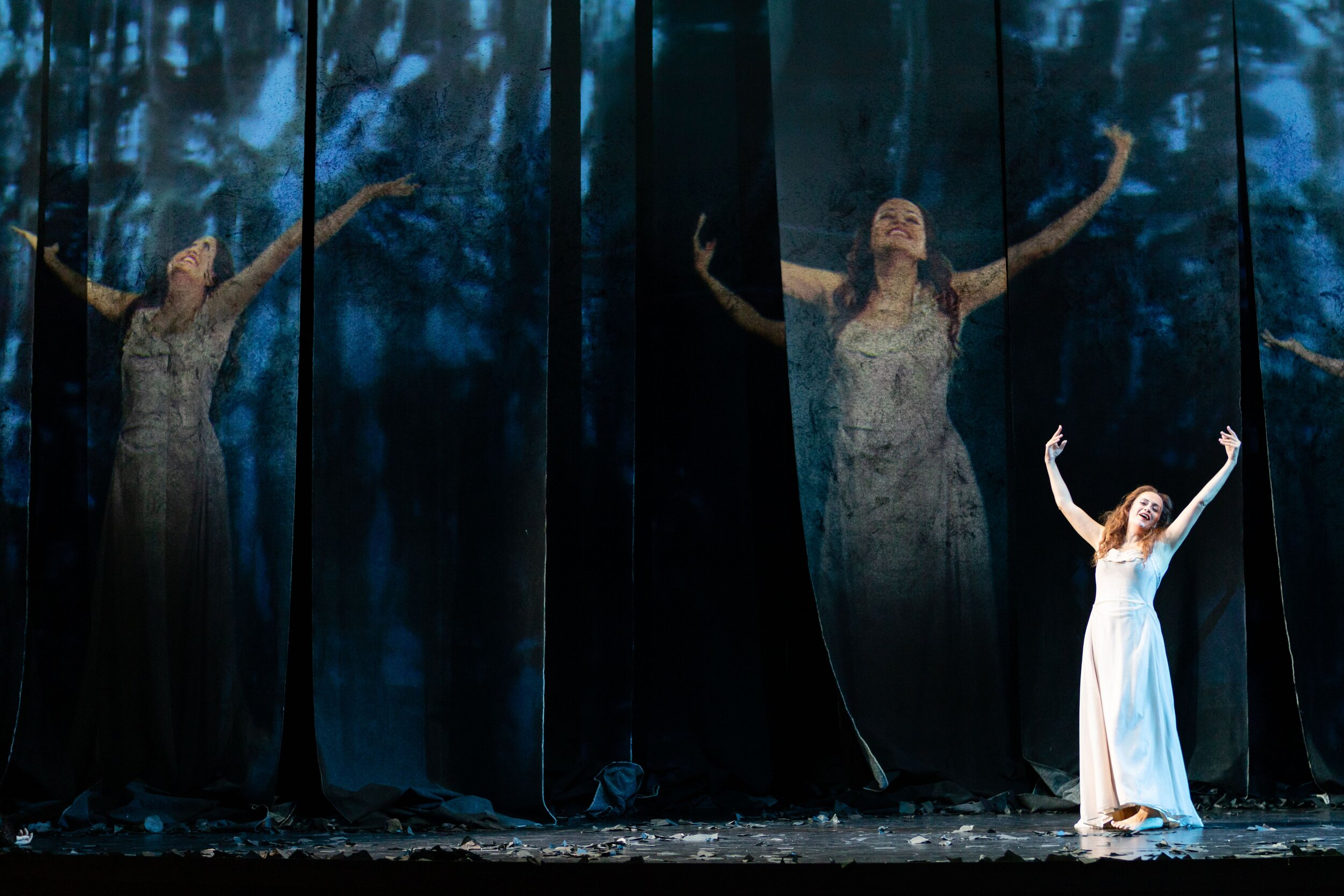 Amanda Forsythe as Semele. Photo by Dominic M. Mercier; courtesy of Opera Philadelphia.