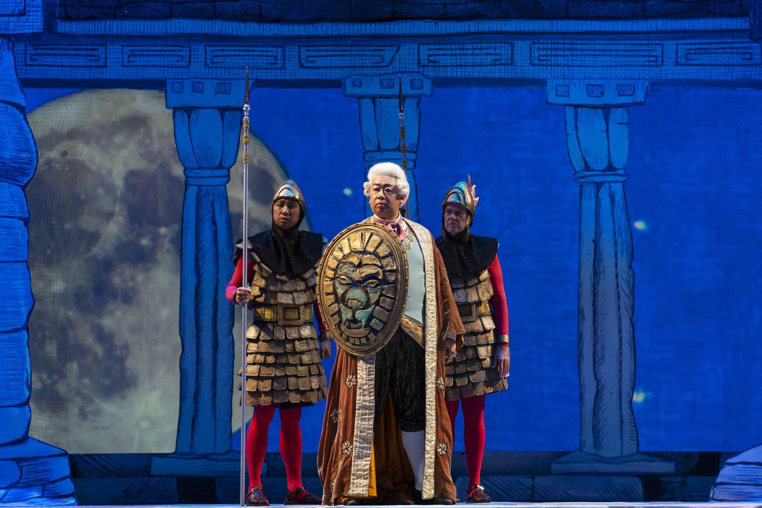 Wei Wu as Sarastro. Photo by Scott Suchman; courtesy of Washington National Opera.
