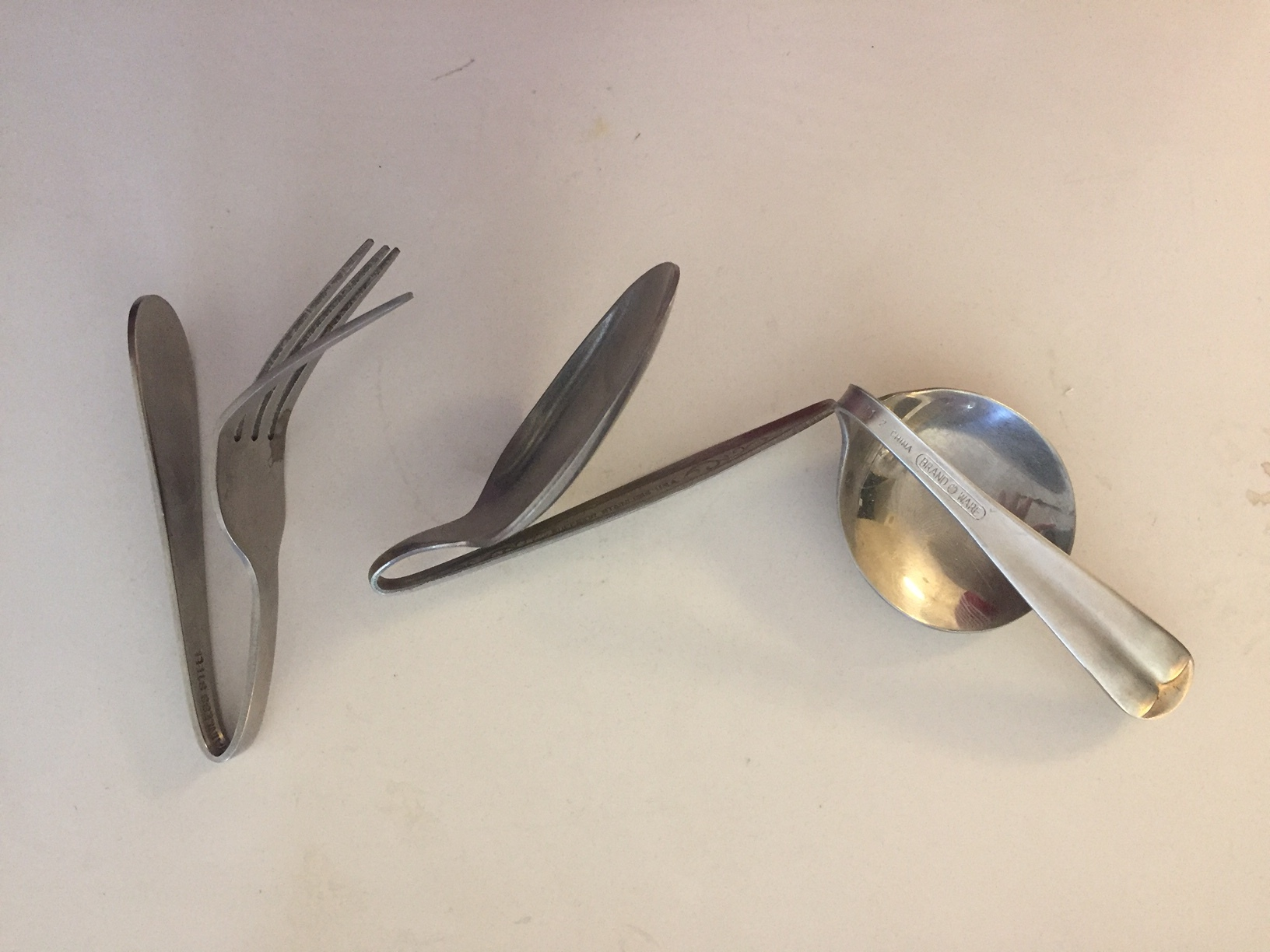 Photo: Actual spoons and a fork bent by Dallisa and Rose in Sedona, AZ