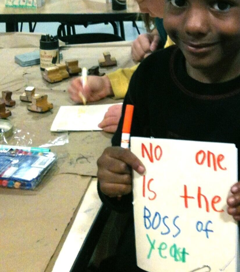 """A former student is writing the cover to his poetry book about bread. It's titled """"No One is the Boss of Yeast."""""""