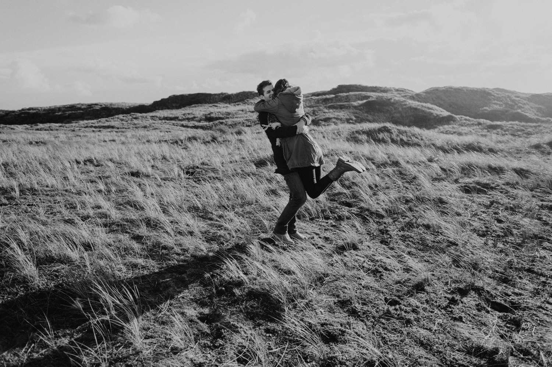 Dunes Bloemendaal Couple Jumping