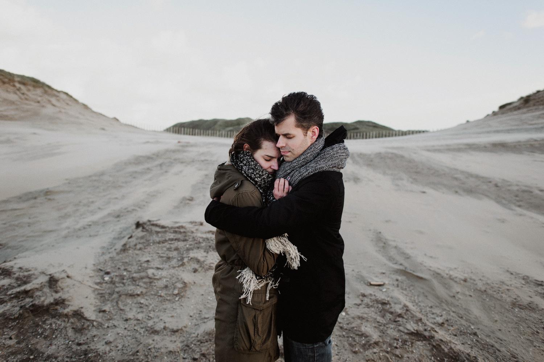 Beach Bloemendaal Couple Hugging
