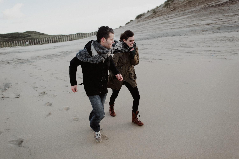 Dunes Bloemendaal Couple Running