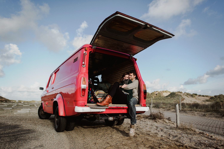 Dunes Bloemendaal Couple Red Firetruck