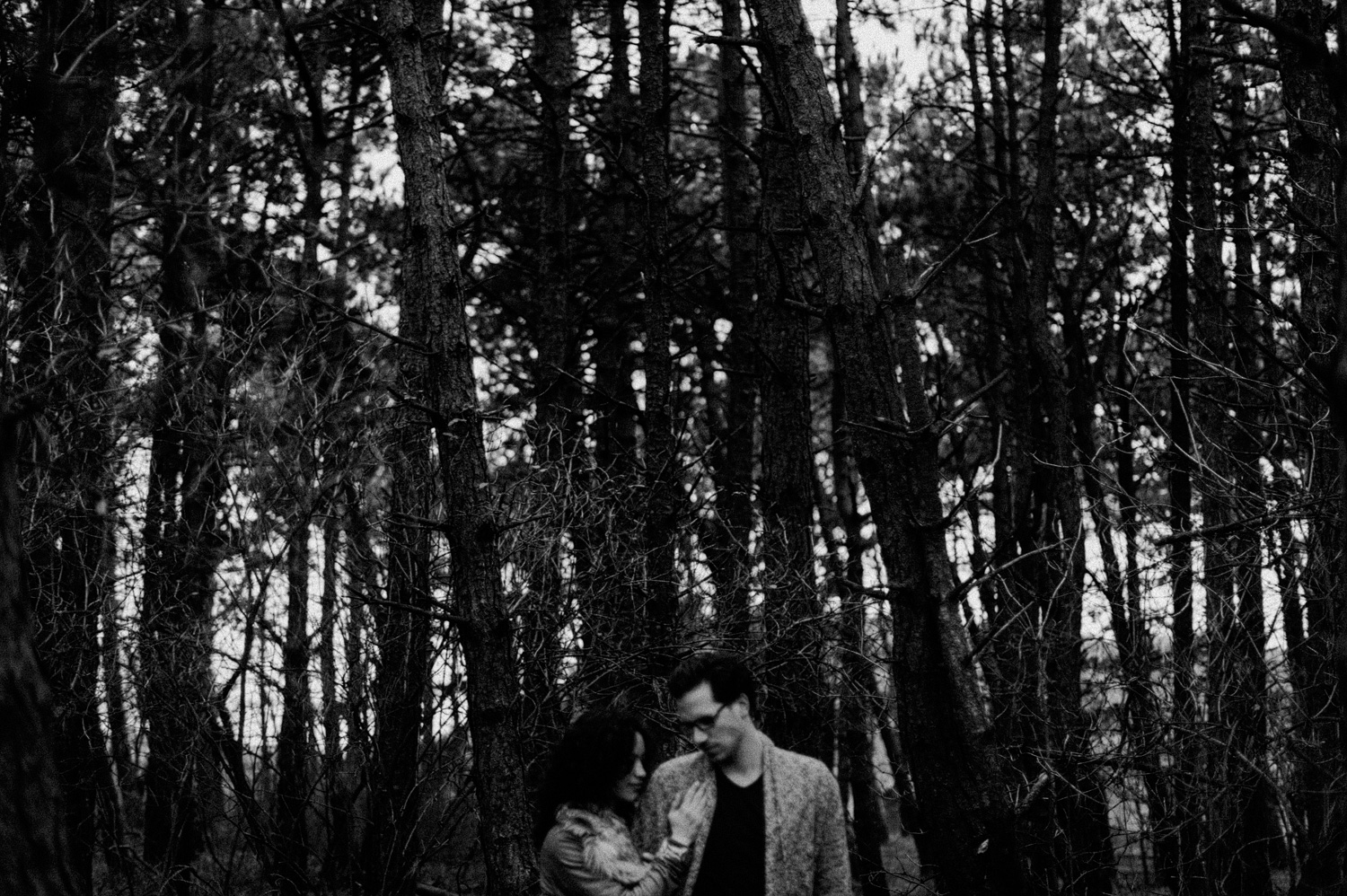 Guy and girl in forrest together