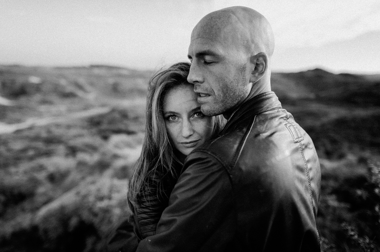 Fine art couple shoot girl facing camera