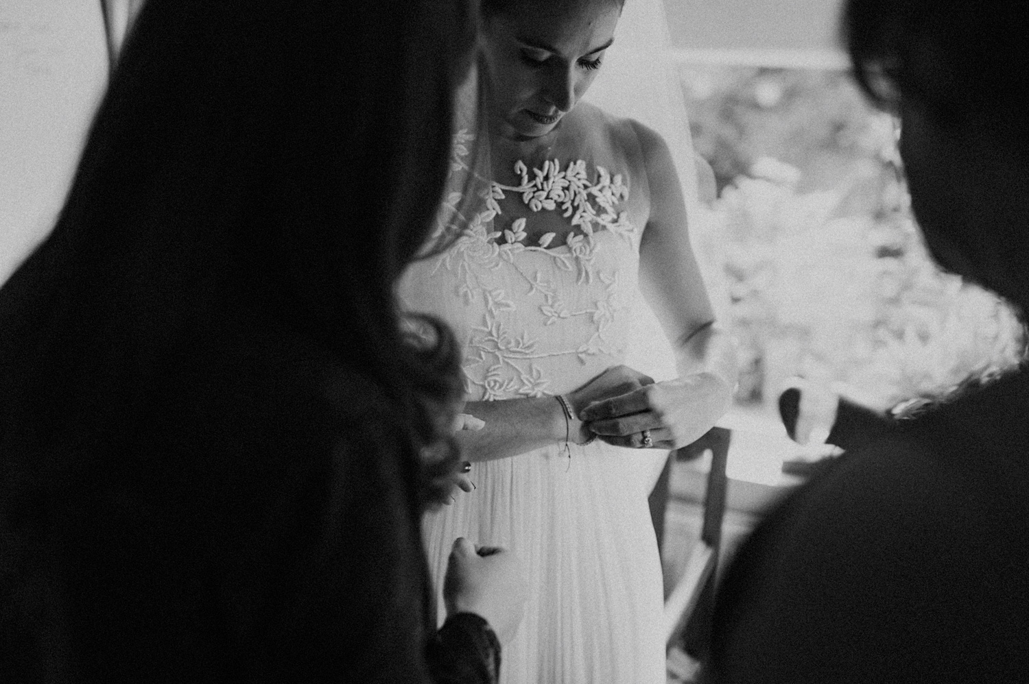 Bride getting ready at parents house
