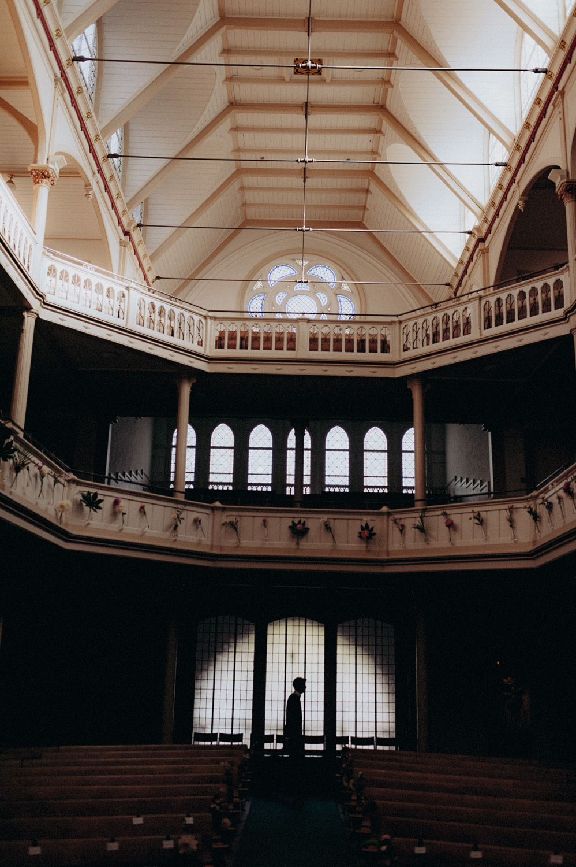 Beautiful ceiling at Keizersgracht Kerk Amsterdam