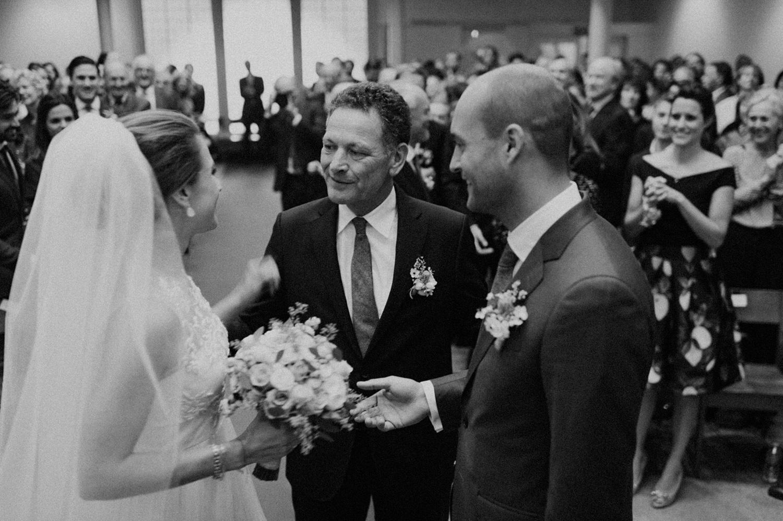 Wedding ceremony at Keizersgracht Kerk Amsterdam