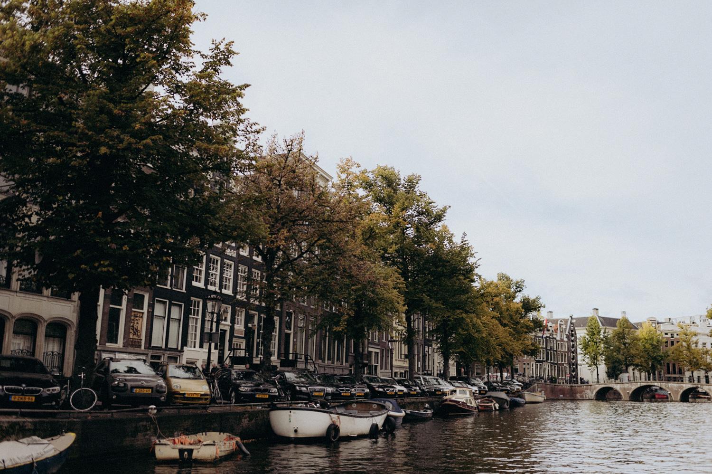 Canals of Amsterdam close to Keizersgracht Kerk Amsterdam