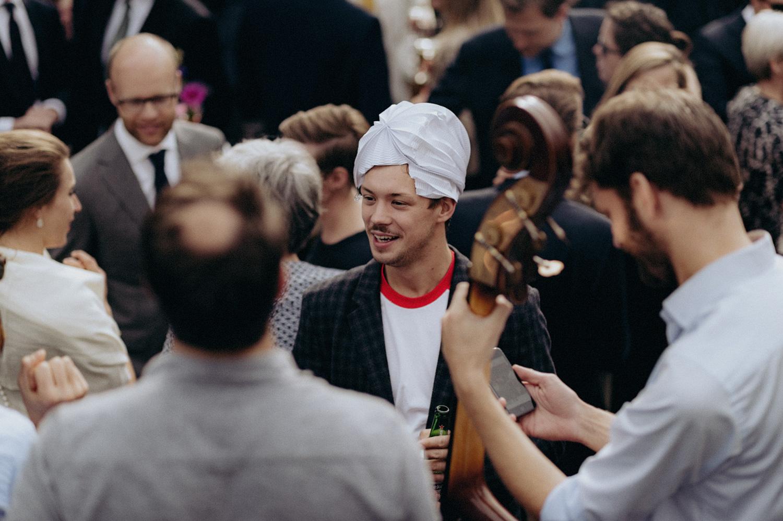Wedding guests at VondelCS Amsterdam