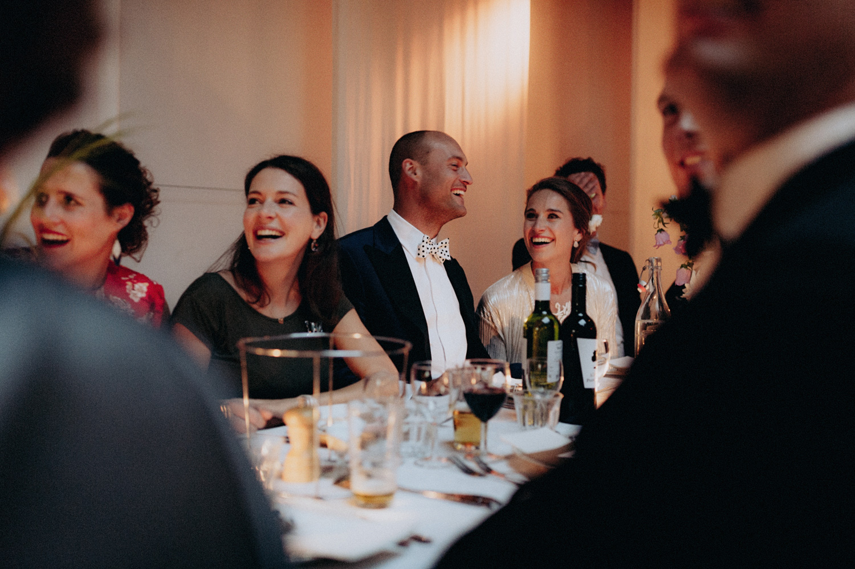 Wedding guests enjoying dinner at Rijk van de Keizer