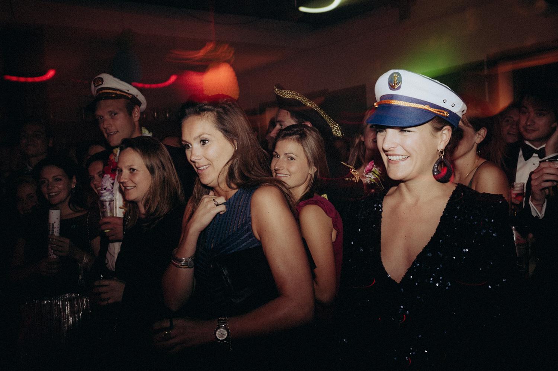 Wedding guests with hat during party at Rijk van de Keizer