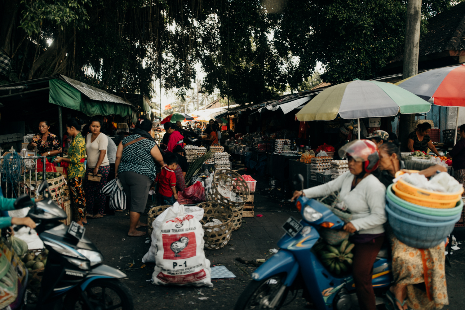 People at market in Bali, Indonesia