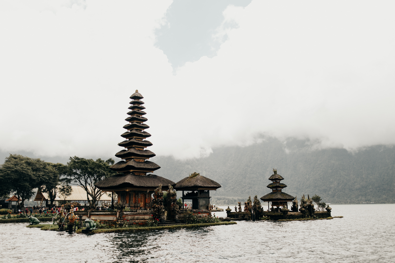 Beautiful temples in Bali, Indonesia